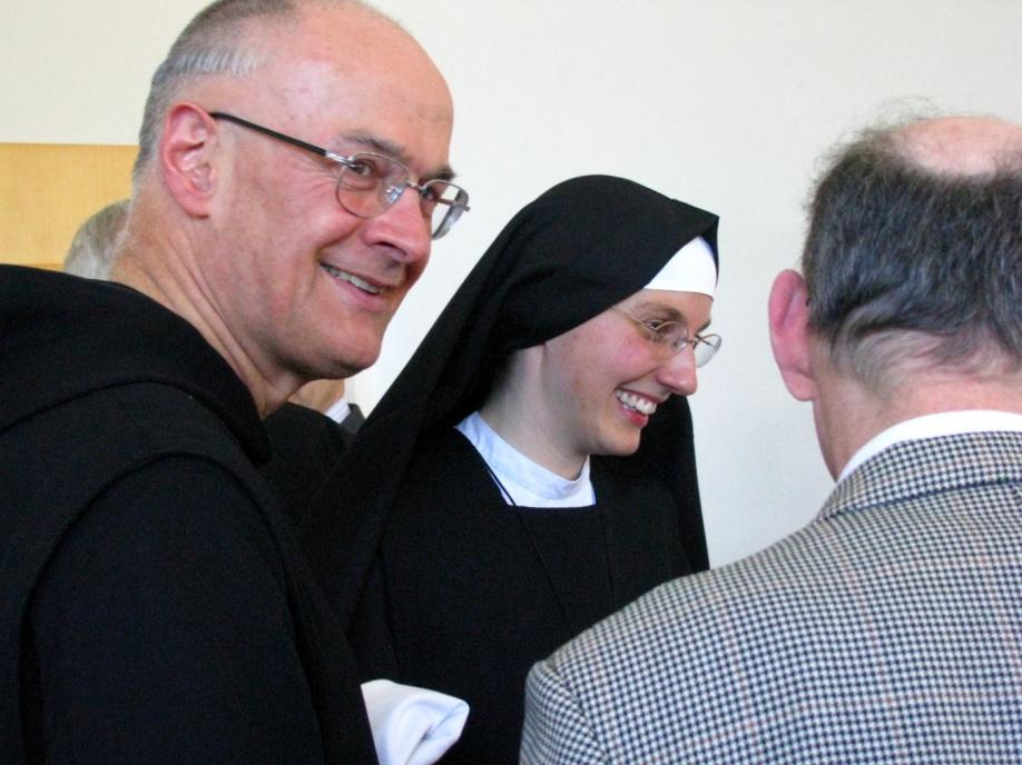 Fr Bruno OSB and Sr Marie Liesse