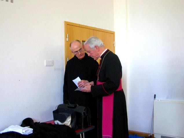 Bishop Williamson and fr Bruno OSB.