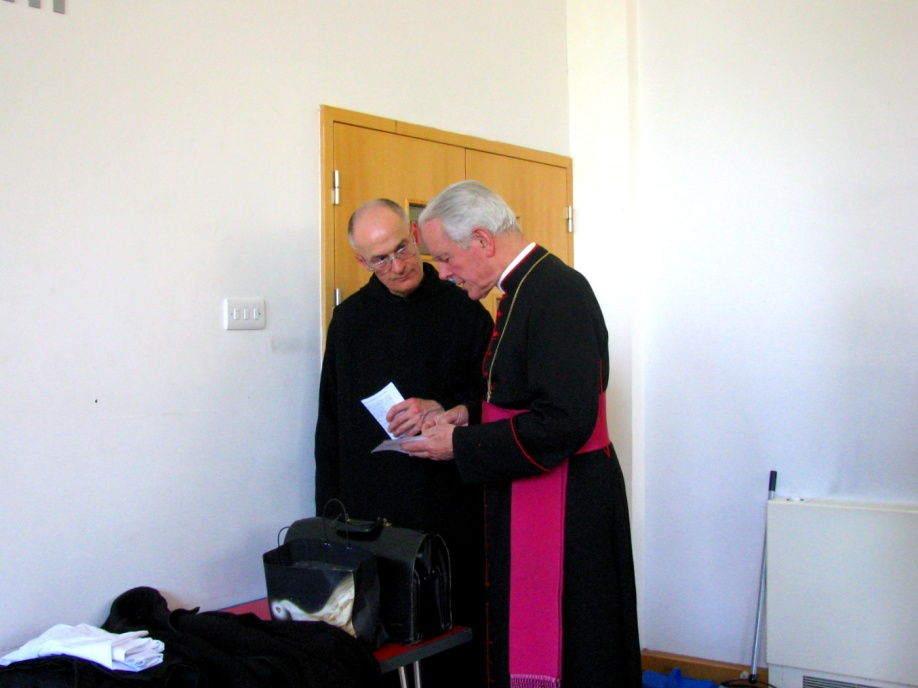 Bishop Williamson and fr Bruno OSB.