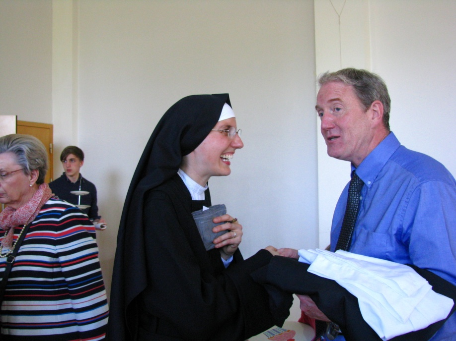Sr Marie Liesse and the Mass centre co-ordinator.