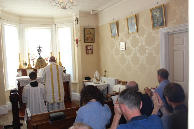 Some of the faithful during the Mass for the August First Saturday devotions.